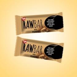 RawBar –Mogyorós csoki 19g x25ks, 475g