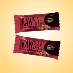 RawBar vörösáfonya és mandula csoki 18gx20ks